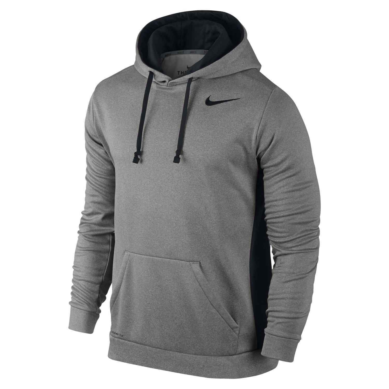 beauty new lifestyle vast selection Nike Men's KO Therma Fit Pullover Hoodie Sweatshirt Grey Black 3XL XXXL
