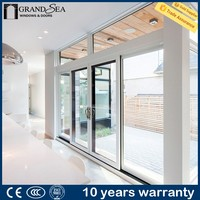 Standard size thermal break aluminum profile sound proof sliding fly screen door parts