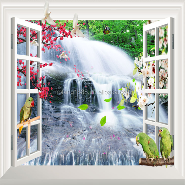 Mountain Scenery Paper back 3D Wall Paper/ customized design papel de parede 3D