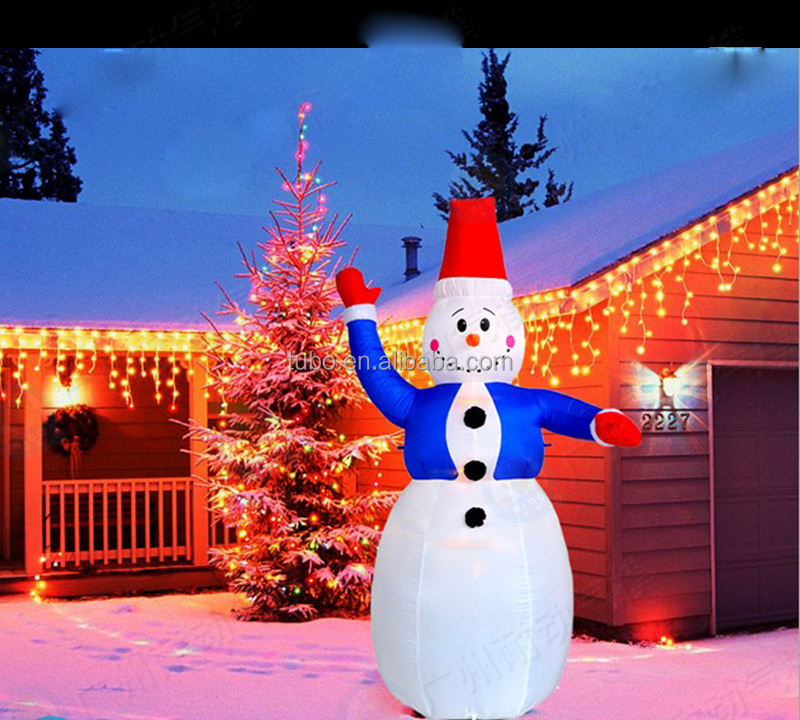 Christmas Decorations To Buy In China: Hot Sale Inflatable Outdoor Christmas Snowman Decoration