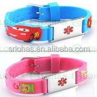 Eco-friendly 100% Custom silicone bracelets with debossed logo