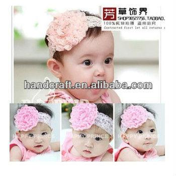 Glitter Flower Lace Children Hair Band Baby Hair Accessories Hair