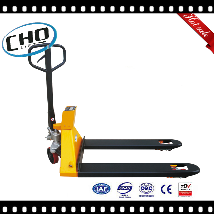 Ningbo Cholift Factory Hand Pallet Truck with Weighing Scale