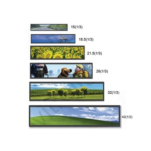 24.6inch ultra wide stretched bar lcd monitor digital signage shelf edge lcd display