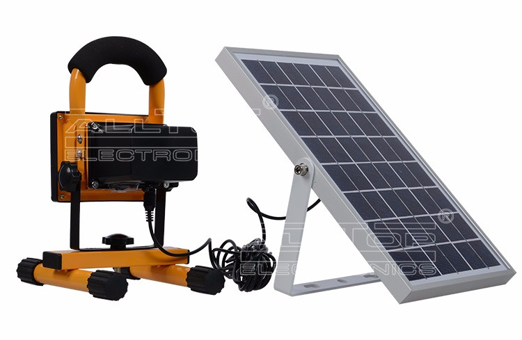 10w Waterproof outdoor ip65 portable rechargeable solar led flood light