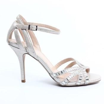 2015 Womens Fashion Elegant Silver Dress Sandals Silver Sandals For Wedding Silver Strappy Sandals Buy Silver Strappy Sandals Silver Sandals For