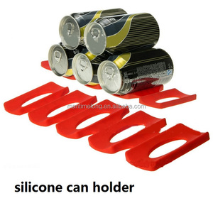 Silicone Tin Can Storage Holder Mat Can Beverage Beer Rack Storage Refrigerator Storage Rack Space Saver Organizer
