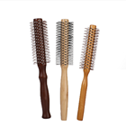 Free Shipping Women Man Girls Roll Hair Round Beauty Makeup Salon Wavy Curly Styling Tools wooden hair comb