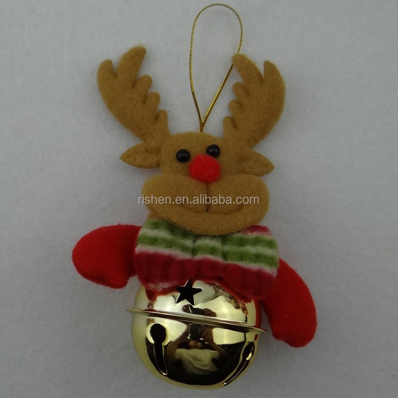 popular reindeer christmas bell funny christmas crafts, christmas hanging ornament