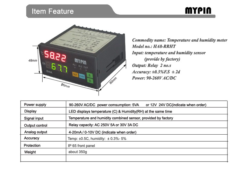 MYPIN brand Accurate and Reliable temperature humidity controller at reasonable prices