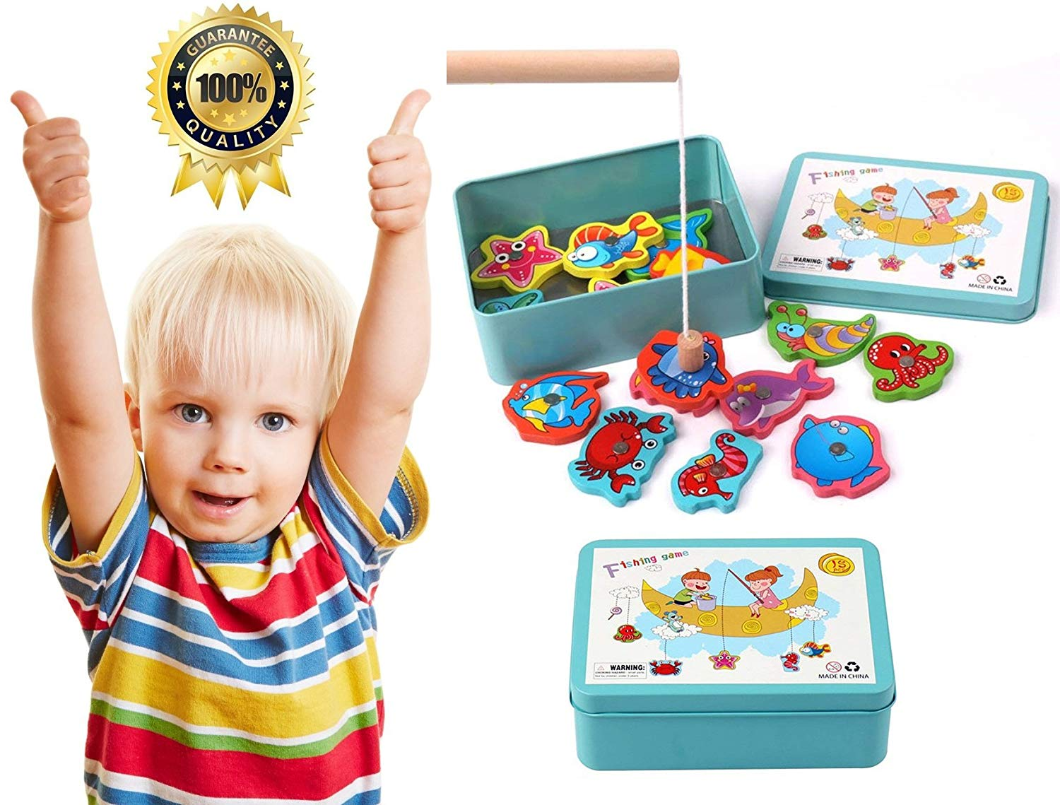Fishing Toys Fun Magnetic Puzzle Game