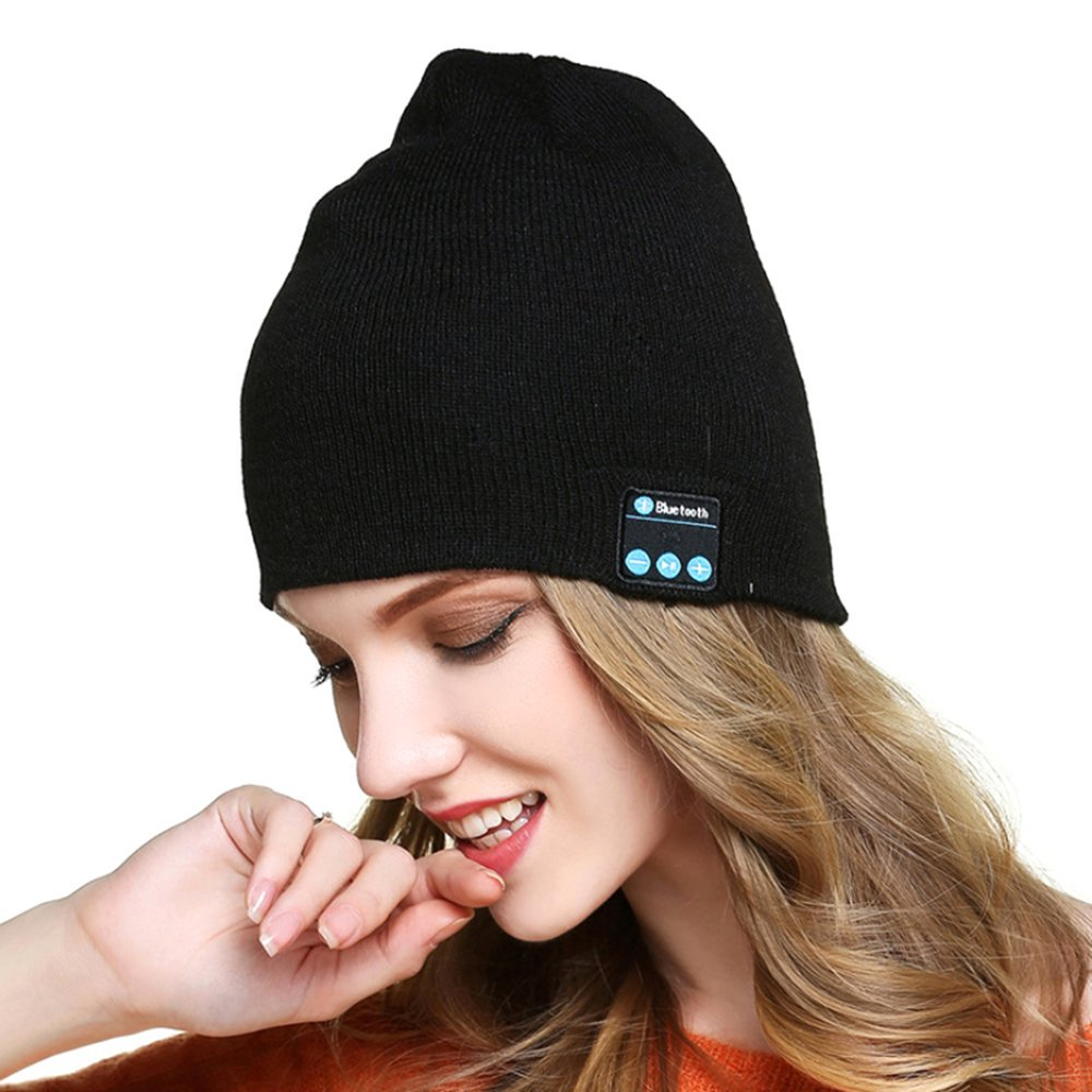 a6ed7dfe5c7 Get Quotations · Wireless Bluetooth Beanie Hat