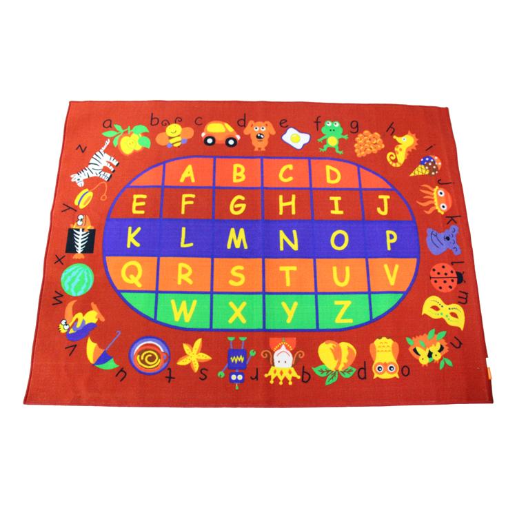 Hebrew Alphabet Abc Animals Kids Rugs