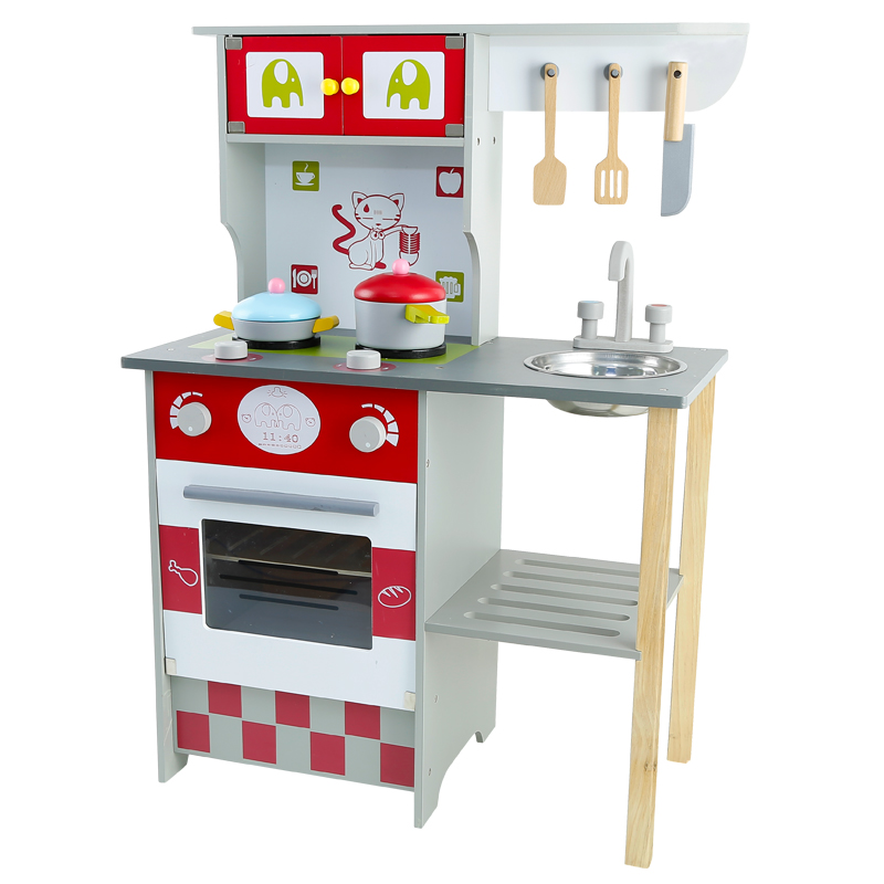 New design pretend play kitchen toys children cooking simulation European  style kitchen toys wooden gas stove, View children cooking toys kitchen gas  ...