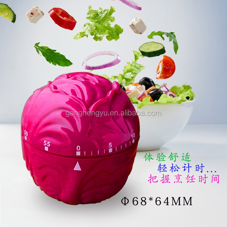 Cabbage Shape Vegetable Kitchen Timer Mechanical 60 Minute Timer