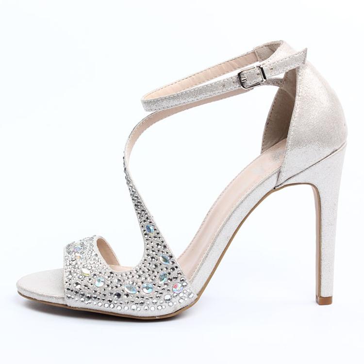 2015 Fashion Elegant Girls Silver Sandals Silver Sandal Silver ...