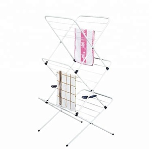 550-78 home 3 tier freestanding metal wire foldable towel rack