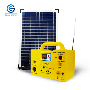 China manufacturer high conversion rate competitive price energy solar generator radio 18ah 30w for home lighting system