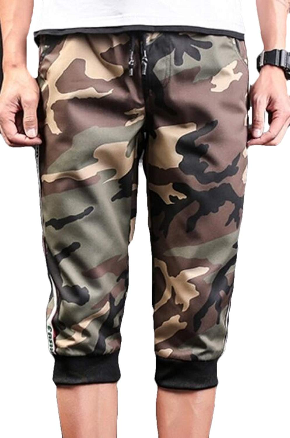 AngelSpace Mens Baggy Casual Army Pocket Trim Oversize Cargo Work Pants