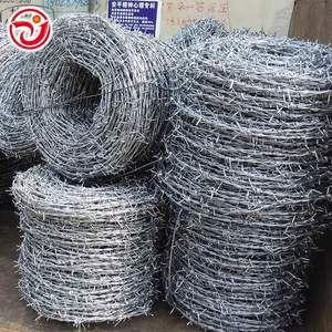 Raw Material Hot Dipped Barbed Wire Price For Sale