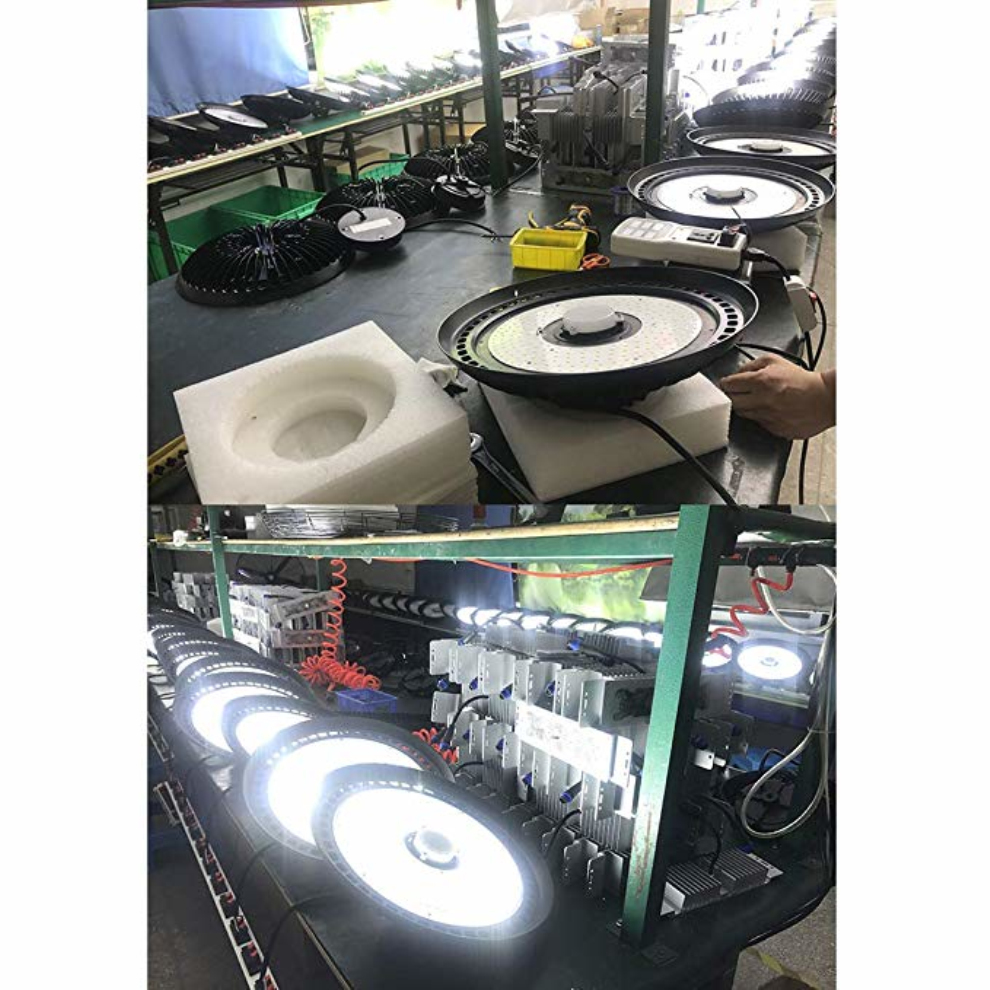 160lm/W 2019 NEW UFO High Efficient Lighting Fixture 200W LED UFO High Bay Light microwave motion sensor and dimmer