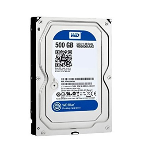 WD Blue 500GB Desktop HDD - 7200 RPM SATA 6 Gb/s 16MB Cache 3.5 Inch used sata hard drive- WD5000AAKX