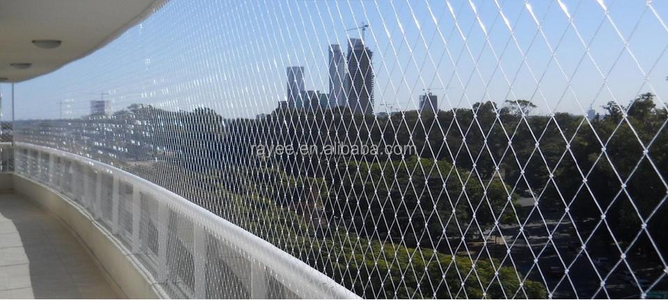 monofilament balcon filet de s curit s curit treillis m tallique de s curit en nylon net. Black Bedroom Furniture Sets. Home Design Ideas