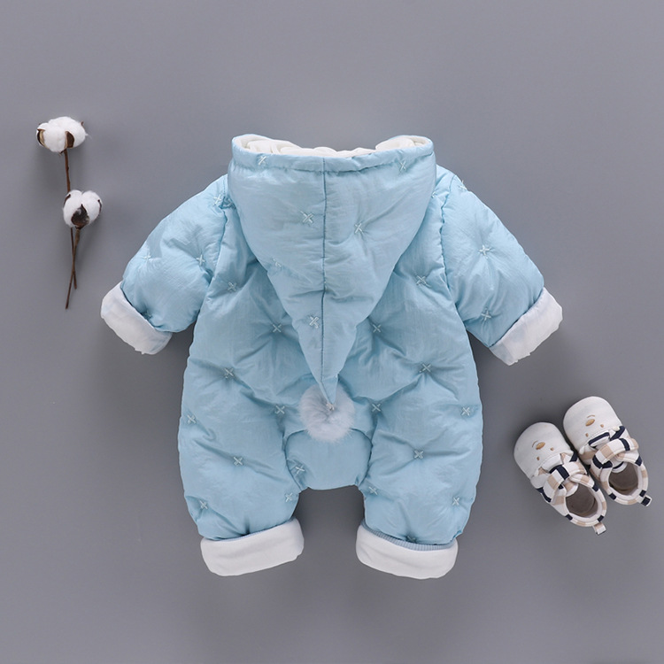 100% cotton winter Pile up Keep warm soft baby romper