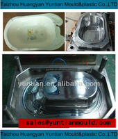 plastic injection second used baby bathtub mold