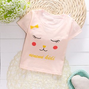Wholesale Baby Outfit Clothes Organic Cotton Short Sleeve Infant T Shirts For Summer