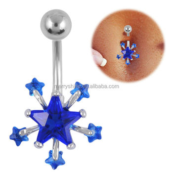 wholesale steel intercollection navel body bar jewellery piercing surgical bn jewelry