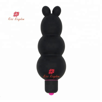 Girl using sex toy rabbit