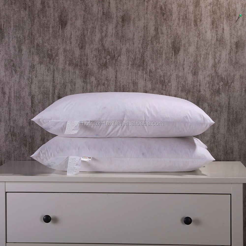 60x60 cm Size 2 two layer 70% goose down 30% feather pillow white down alternative Ball Out door