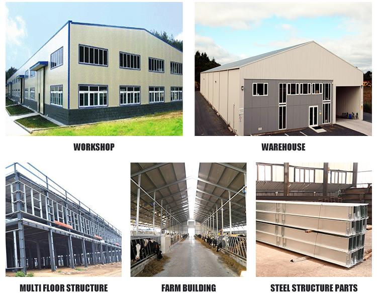Pertanian Prefabrikasi Struktur Baja Gudang Ayam Bangunan Rumah Unggas