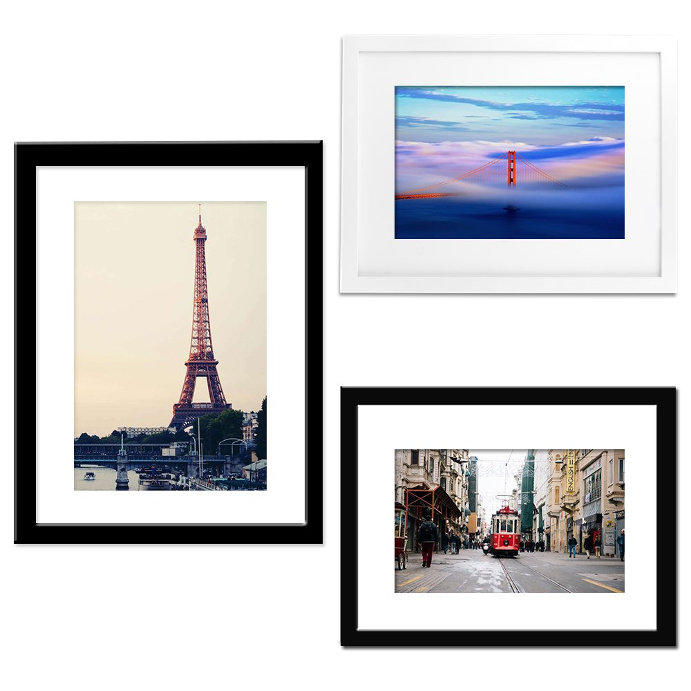 Buy Alotpower 3 Pack Wall Picture Frame One 12x16 Display 8x12 with ...
