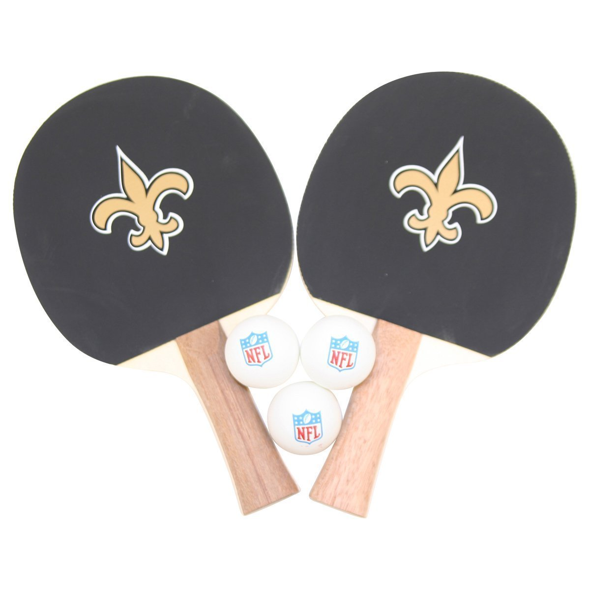 New Orleans Saints NFL Ping Pong Paddle and Ball Set (2 Paddles and 3 Balls)