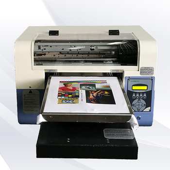 digital flatbed cheap costs 1390 single head 5 colors white ink mini a3 t-shirt printer t shirt DIY machine
