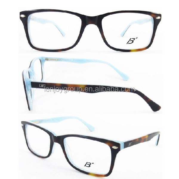 New Product Wholesale two color Eyeglass Frames transparent glasses frame 2016