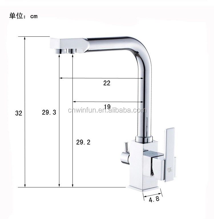 Purifier Drinking Water Tap Kitchen Faucet With 2 Outlet/square ...