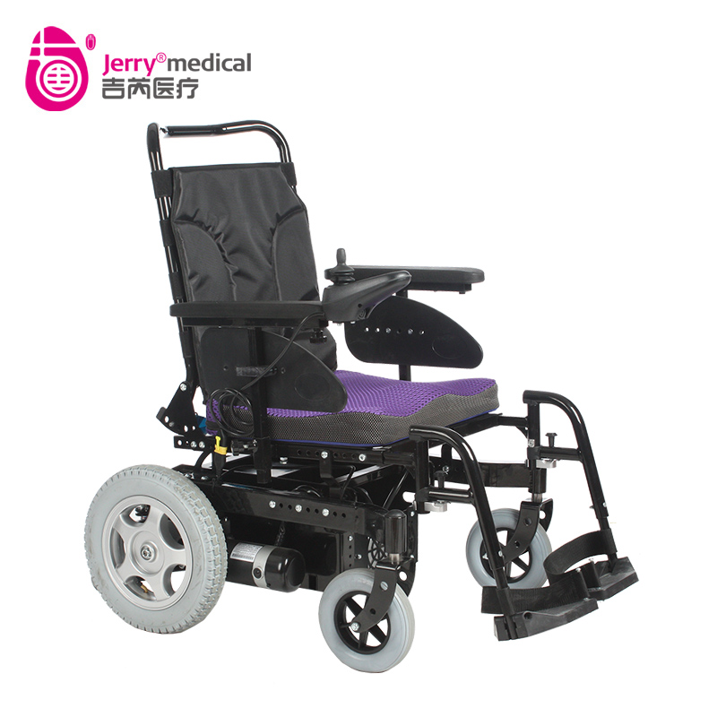 Rehabilitation adjustable height power standing wheelchair