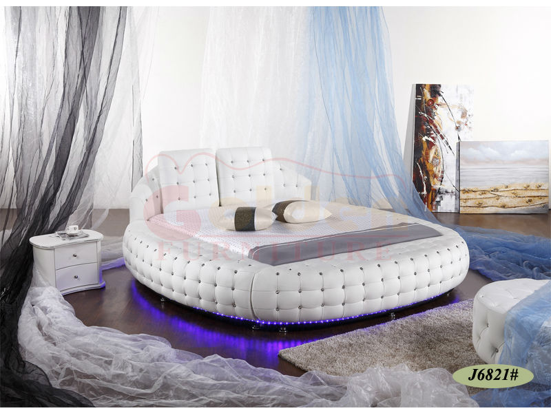 the latest 7301d eeff8 Luxury King Size Round Bed Sets Bed Frame With Led Light 6821# On Sale -  Buy King Size Round Bed,Round Bed Sets,King Size Round Bed Frame Product on  ...