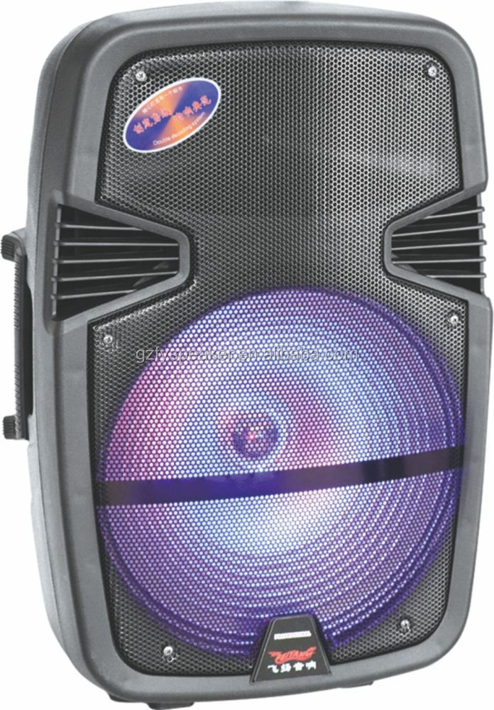 temeisheng speaker 15 inch with led light bluetooth for promotion F-23M