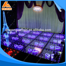 Top quality aluminum portable stage with handrail