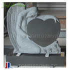 Granite Angels with heart monuments and headstones