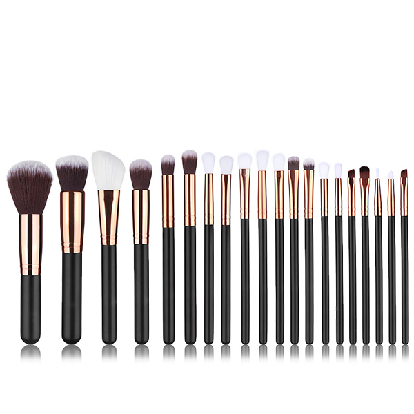 2018 trending products 20pcs make up brushes wooden synthetic hair cosmetic private label vegan makeup brushes set