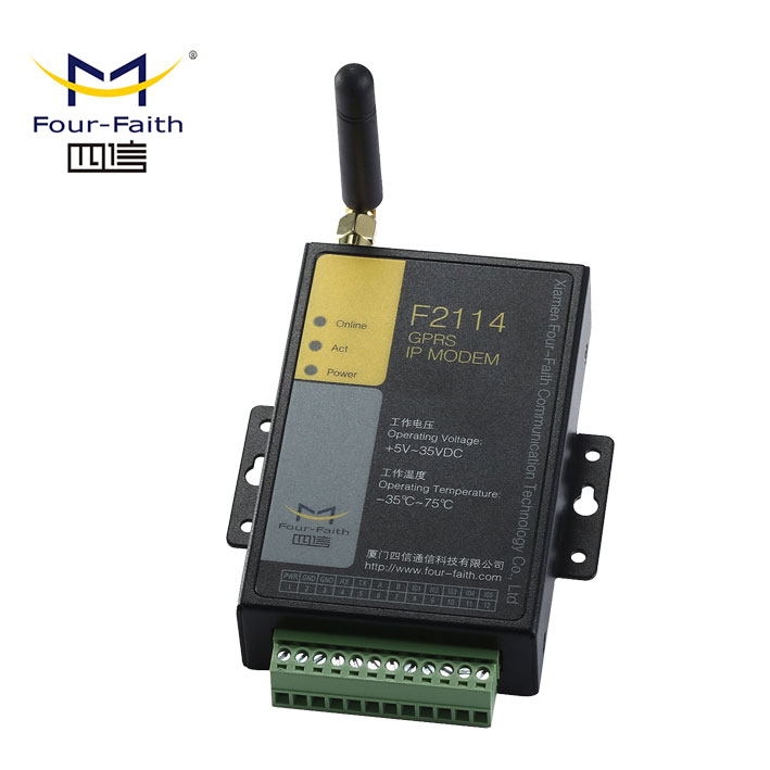 F2114 Industrial fuel tanks monitoring gsm gprs modbus <strong>modem</strong> for data transfer