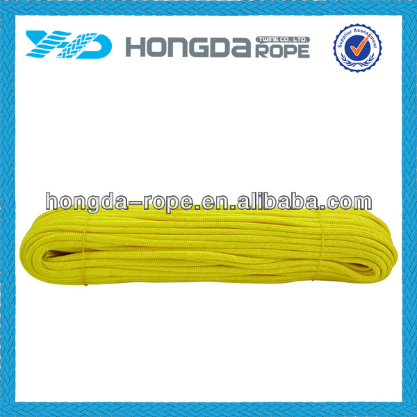 4mm yellow nylon rope Outdoor camping survival rope