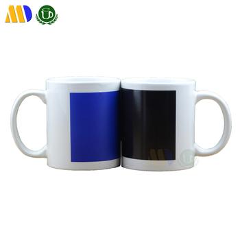 mida sublimation ceramic heat sensitive color changing mugs magic