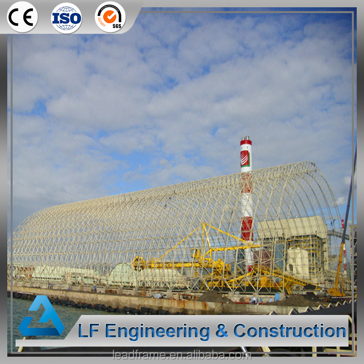 Space Frame Structures Arched Dry Coal Shed Construction