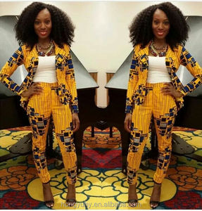 M40711 Factory price Latest African Fashion African wax clothing blazer from clothing manufacture